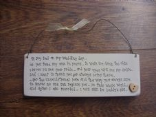 Shabby Personalised wooden chic Father of the Bride.. Special Daddy Dad Father.